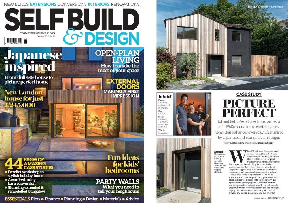 self build design cover and feature october 2017 issue architectural interior photography - Design House Photography