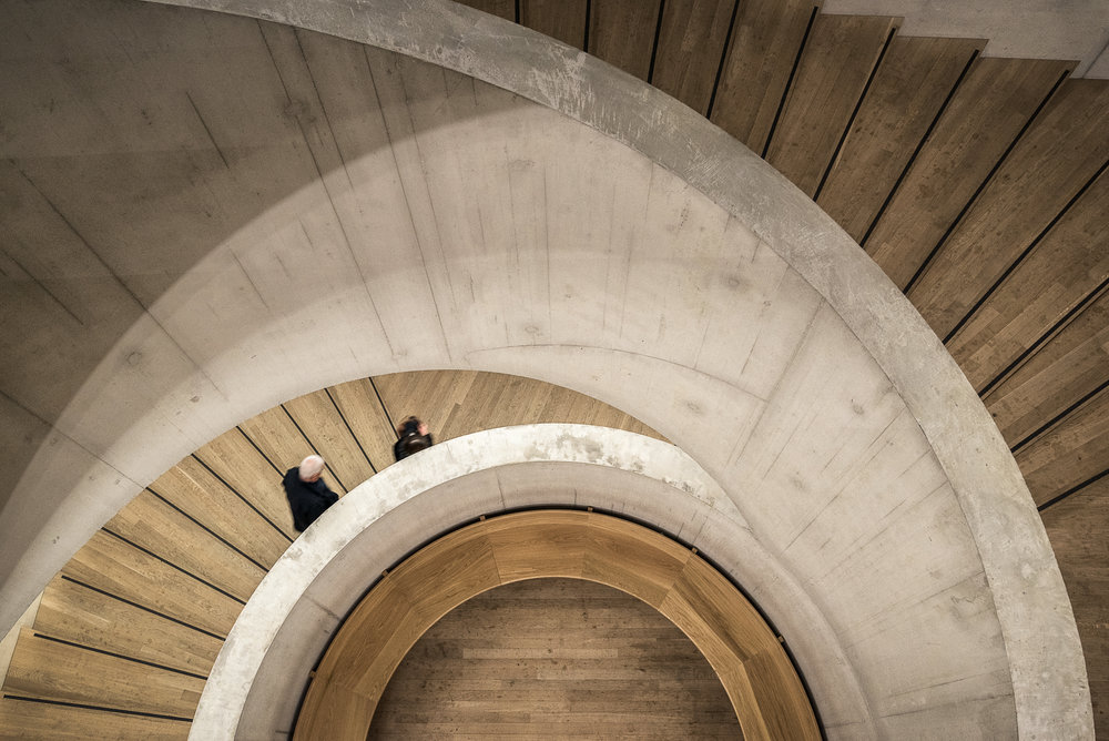 Tate Modern, Switch House spiral staircase - Architectural Photographer London