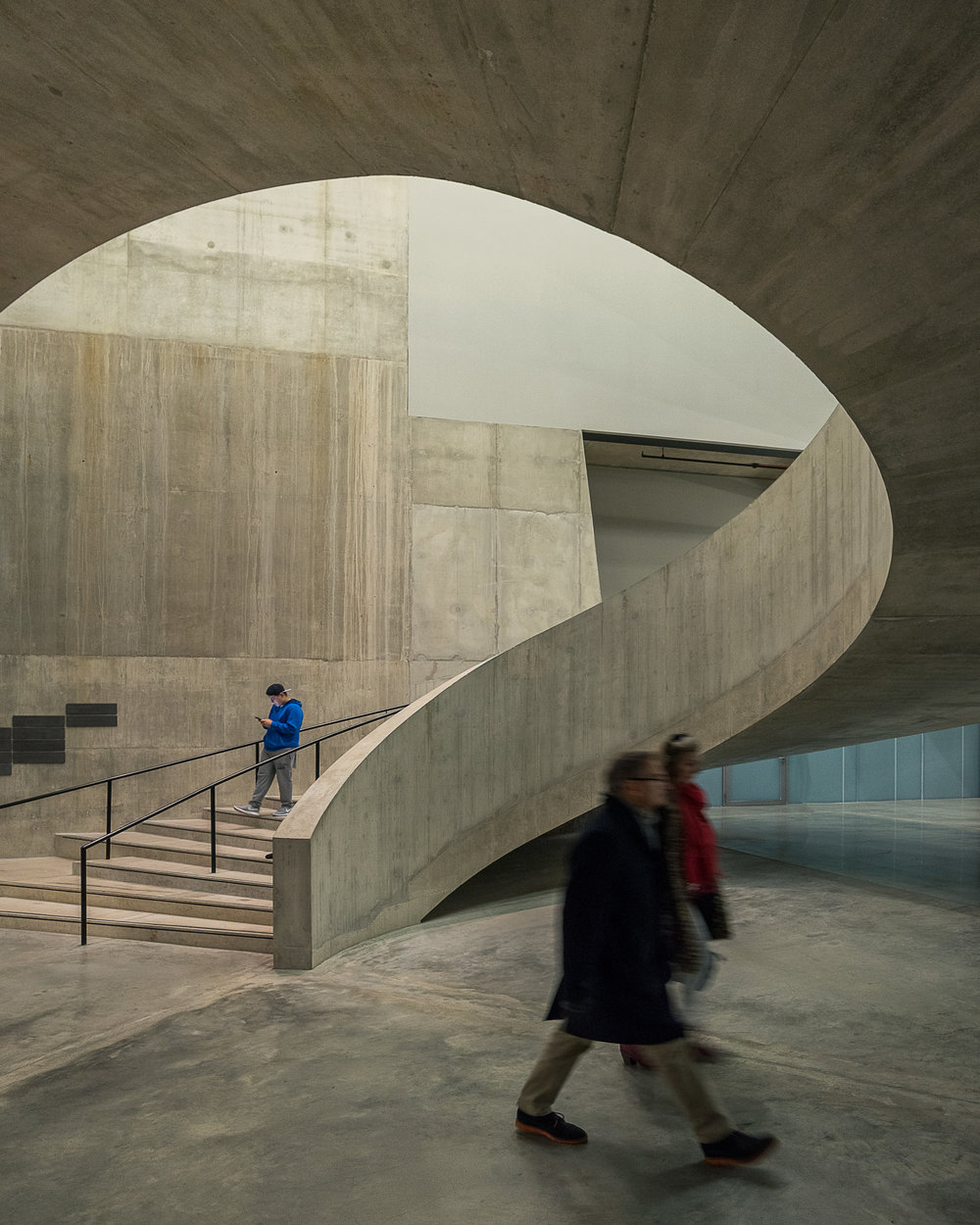 Tate Modern, Switch House spiral staircase 2 - Architectural Photographer London