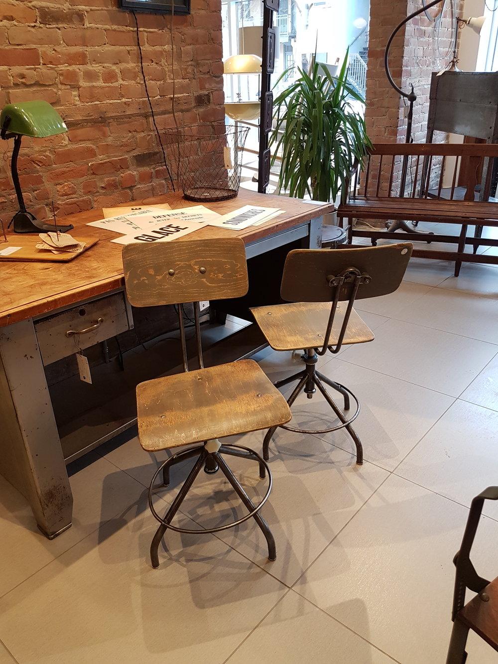 Chaise DAtelier Industrielle Pologne Vintage C 884 Style Labo
