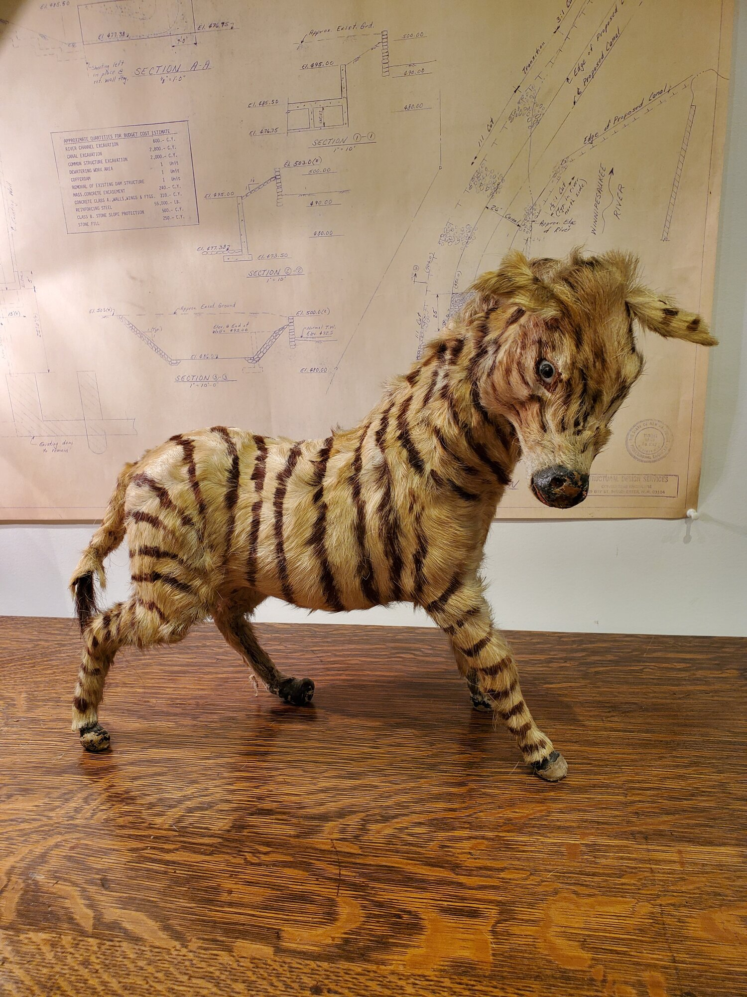 Zebra Design Butée de Porte Animal Fourrure porte accessoires Home Decor 20x15x15cm