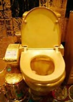 gold toilet. 33  Trump s Golden Toilet No