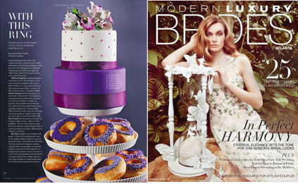Bon Glaze Doughnut Towers as featured in Modern Luxury Brides