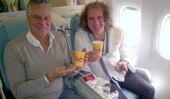 Vittorio-Assaf-sitting-next-to-Fabio-Granato-both-holding-yellow-Serafina-cups.jpg