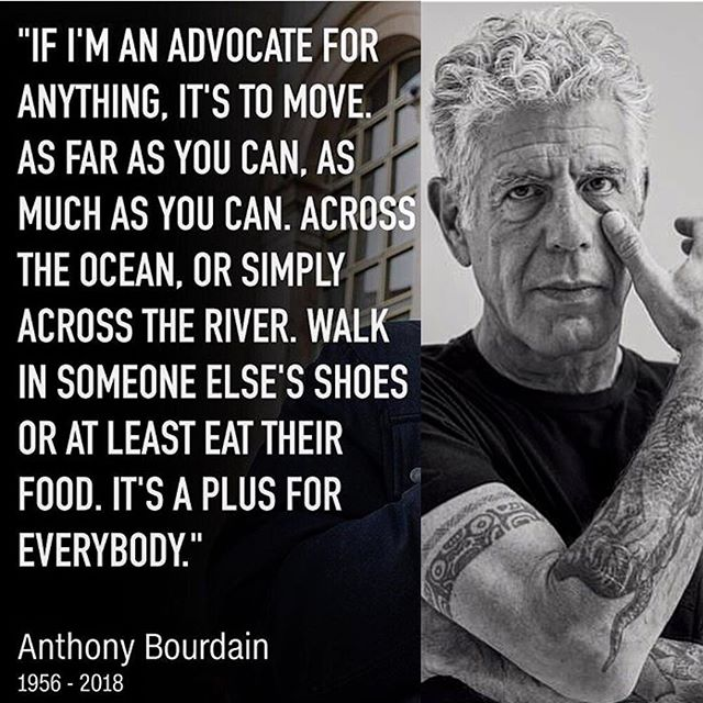 Depression, anxiety, mental health disorder are real diseases just like cancer or any other medical problem. Please let's do our part to end the stigma on mental health, you are not alone and everyone's life has purpose  Thank you @anthonybourdain for your wisdom and passion for food and adventure #rip #anthonybourdain #partsunknown #mentalhealthawareness