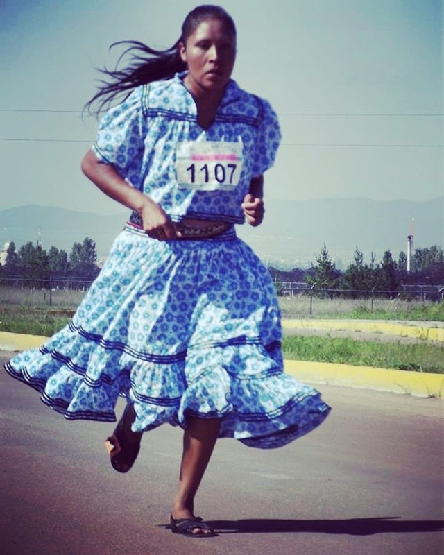 Indigenous Tarahumara runner, Maria Salome,  ran in the Mexican Marathon and won by a wide margin! No tennis shoes, no proper track clothes, and with her hair loose! Her winning was based on her great physical, emotional, mental and spiritual conditioning! Maria's main strength is her big heart and Spirit, representing her land, Chihuahua, and all of Mexico proudly! #tarahumara #indigenous #running #determanation #likeagirl