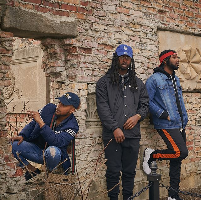 """12:15 in The Ruins"" featuring @its12fifteen @kingkap_ @bigstacey_  #photoshoot #photography #hiphop #vasi #fashion #ruins"