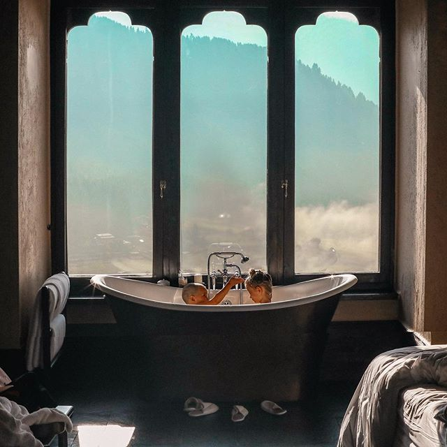 Morning baths above the clouds.. You're something special, Bhutan :) /// @thebucketlistfamily