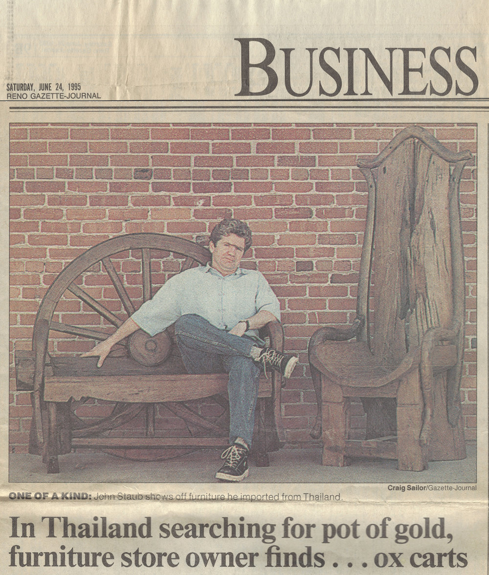 Our founder, John Staub, featured in a newspaper article   June, 1995.