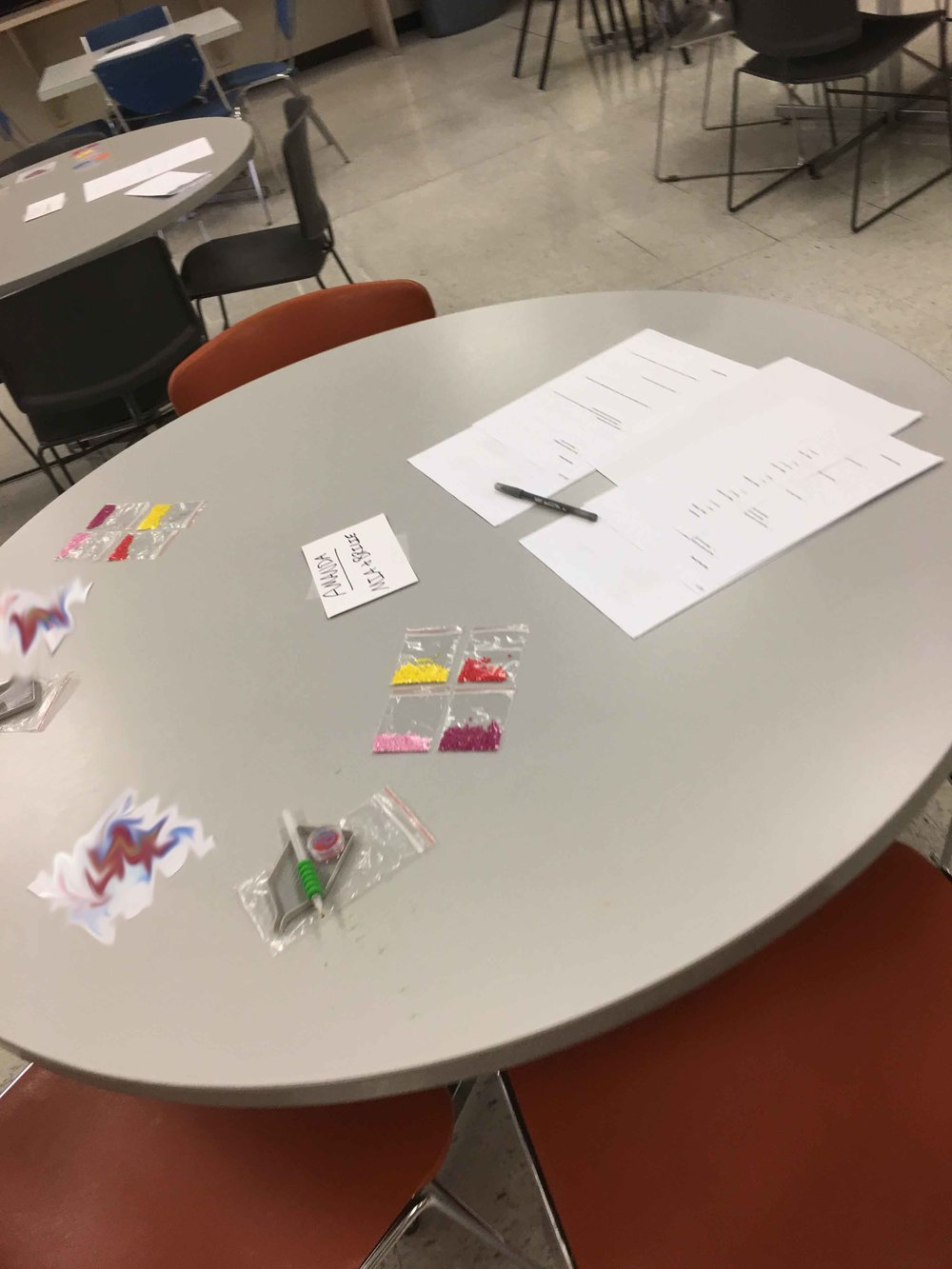 Kid's Focus Group Table Station