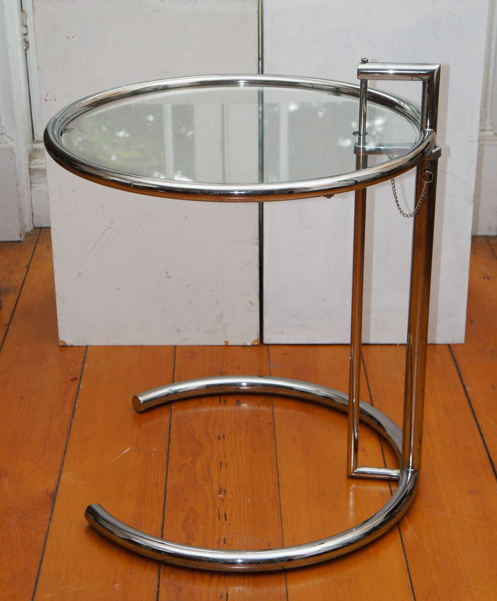 Eileen Gray Chrome And Glass Table