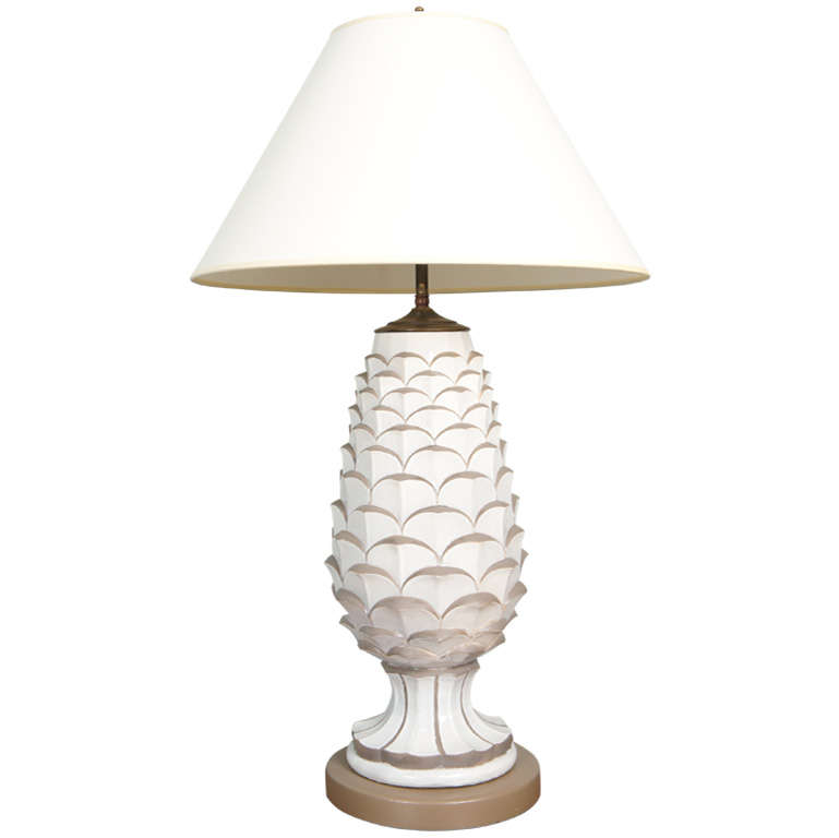 white u0026 gold pineapple lamp - Pineapple Lamp