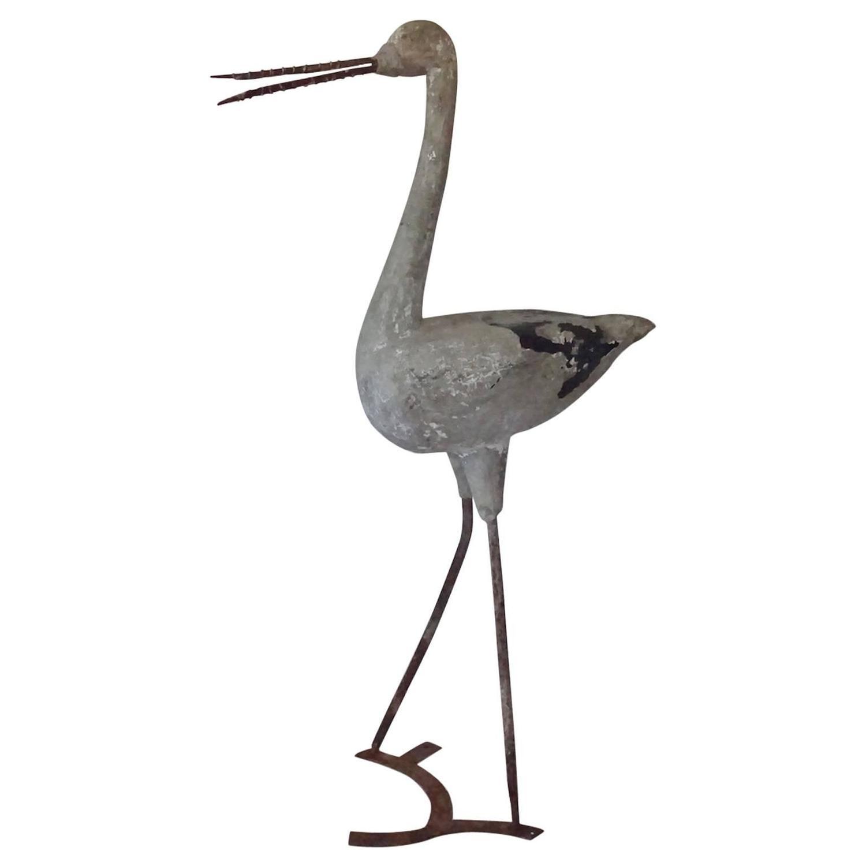 Heron garden ornament - English Cast Stone Heron Garden Ornament