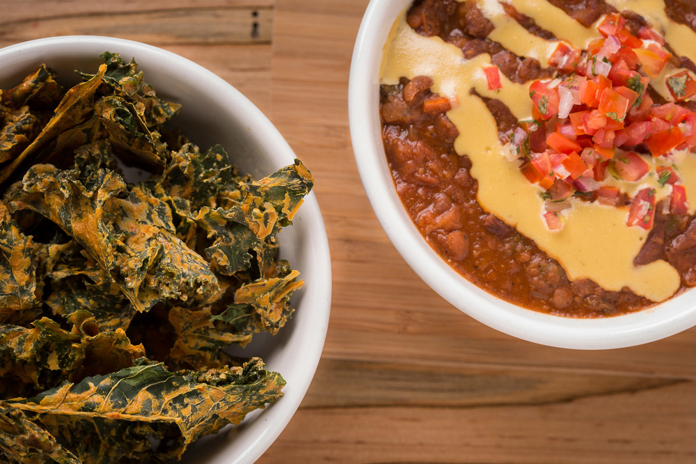 Kale Chips and Chili