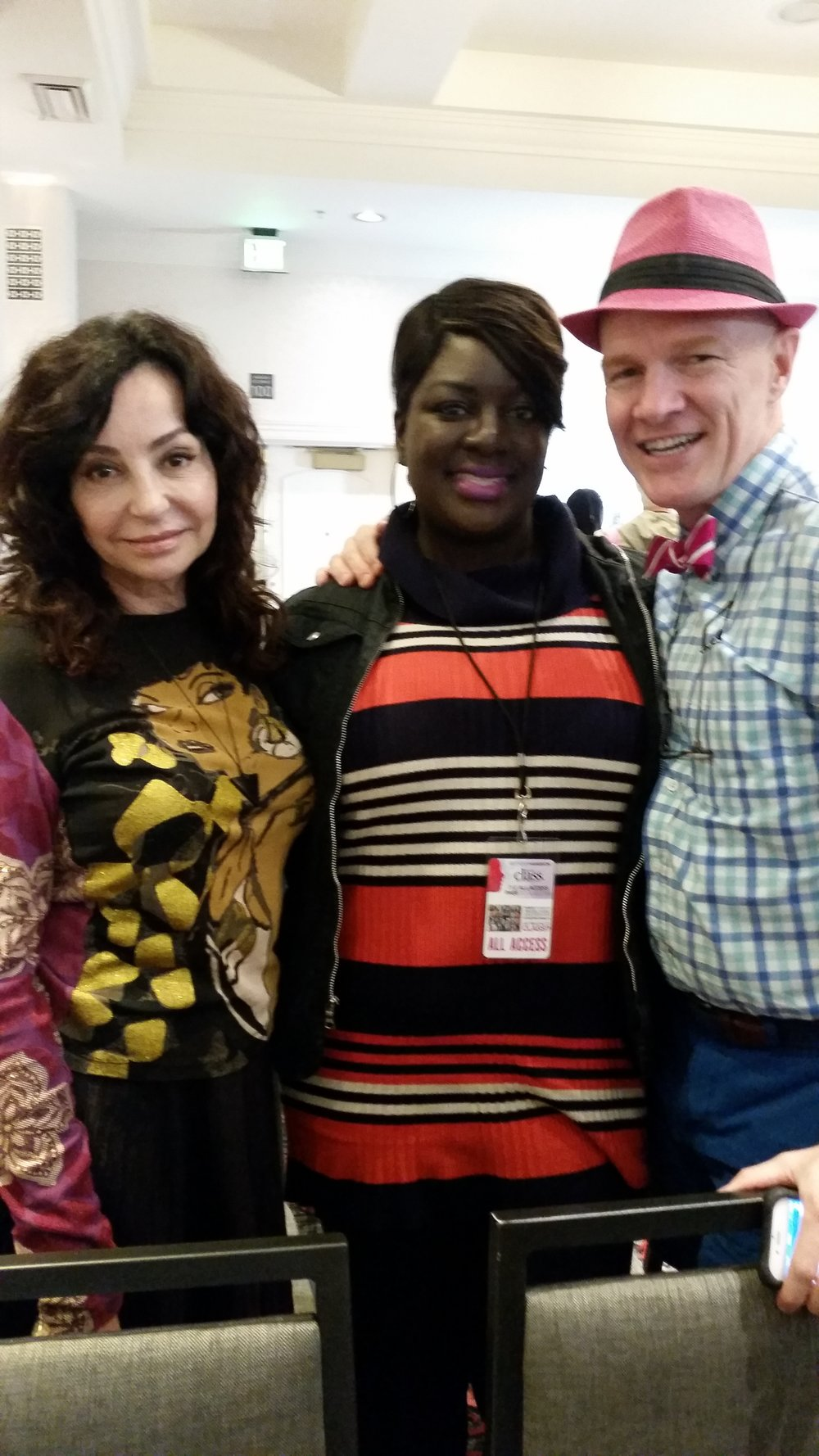 With Stephen Dimmick & Eugenia Weston (the original Brow Guru)