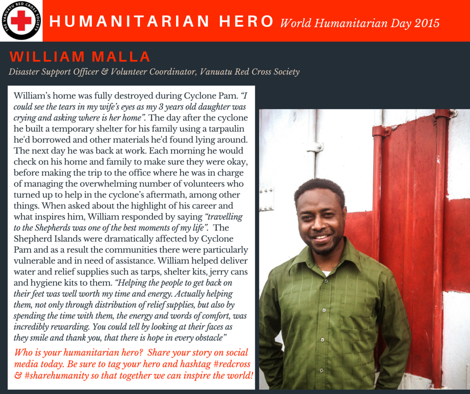 William Malla - VRCS Humanitarian Hero