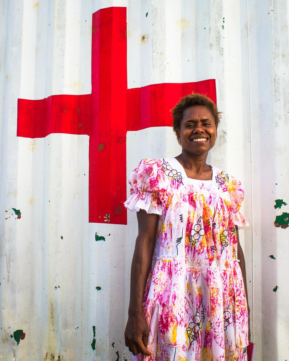 Nelly at the Red Cross branch in Tanna. Source: Edwina Yeates, Vanuatu Red Cross