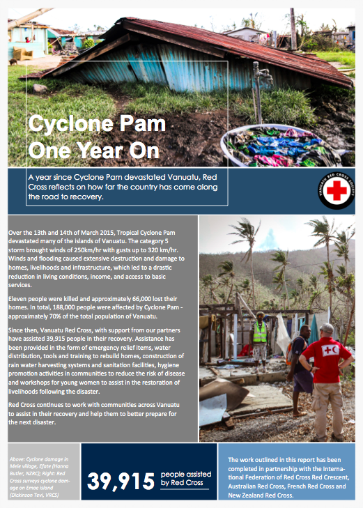 Cyclone Pam - One Year Report (English)