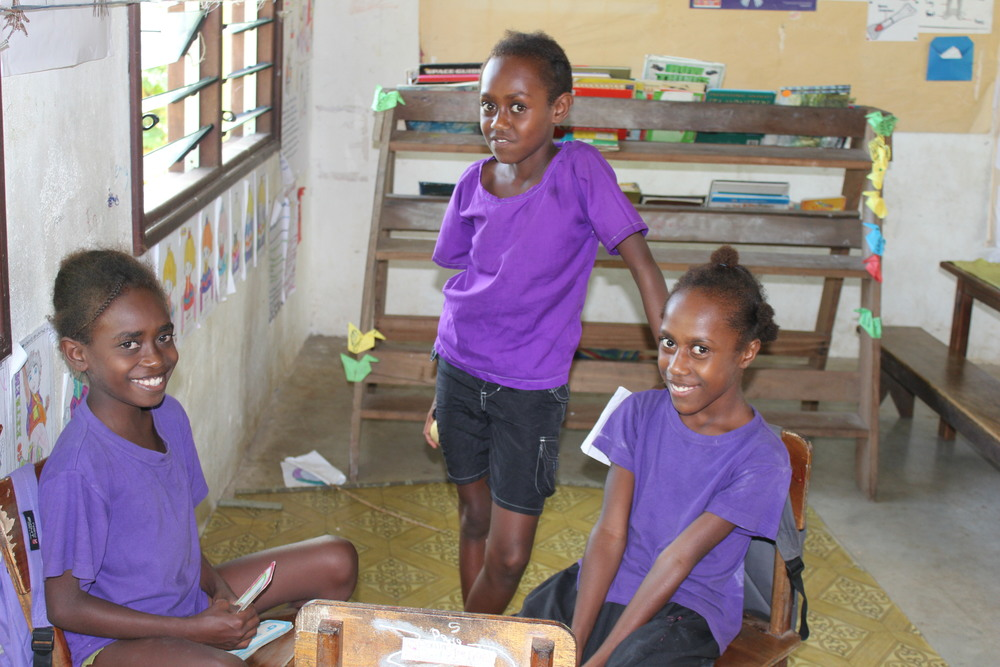 School children from Eratap Primary school