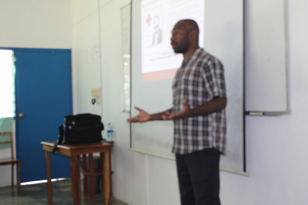 Vanuatu Red Cross dissemination presentation