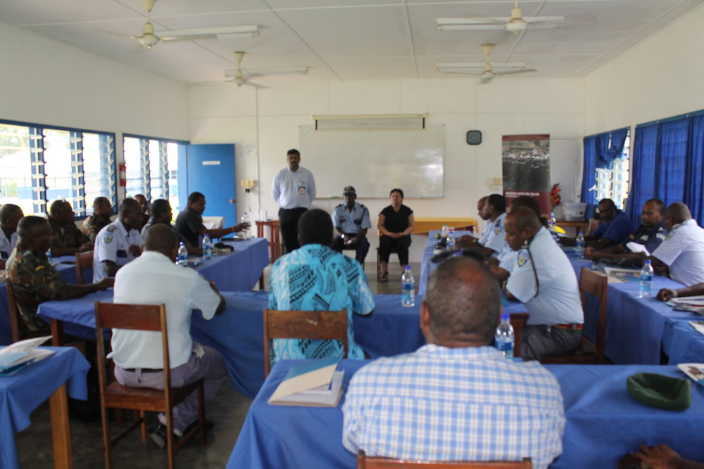Closing of the workshop at the Maritime college in Luganville, Santo.