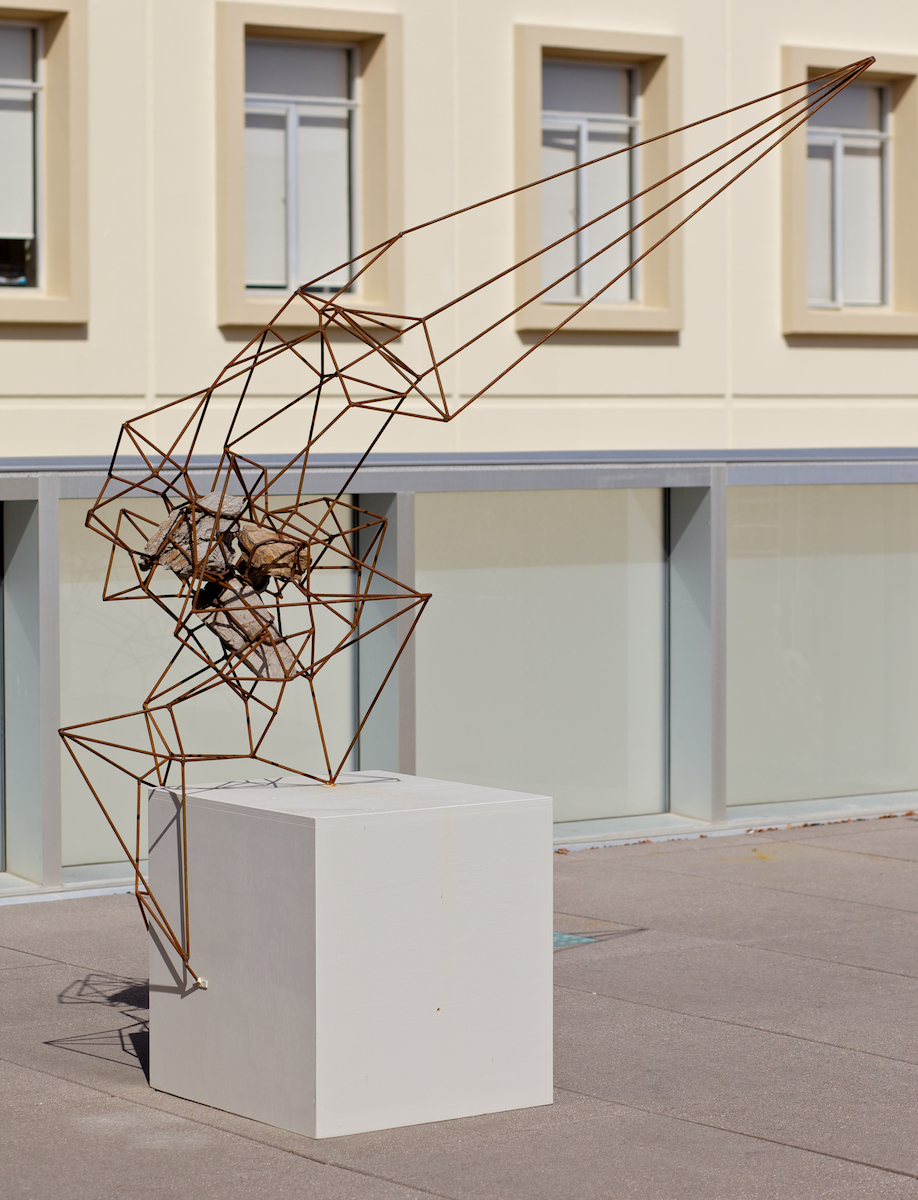"84"" x 60"" x 30"", 2013 (Installation view at the University of San Francisco, Sculpture Terrace"