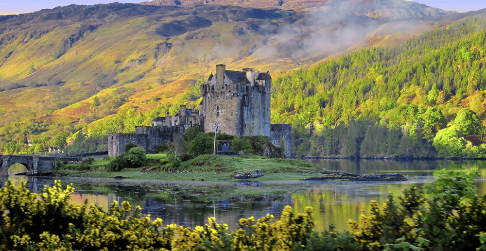 Eilean Donan castle is one of the best known of Scotland's many castles and a fine example of what immediately comes to mind when considering Scottish architecture. (Photo by the author.)