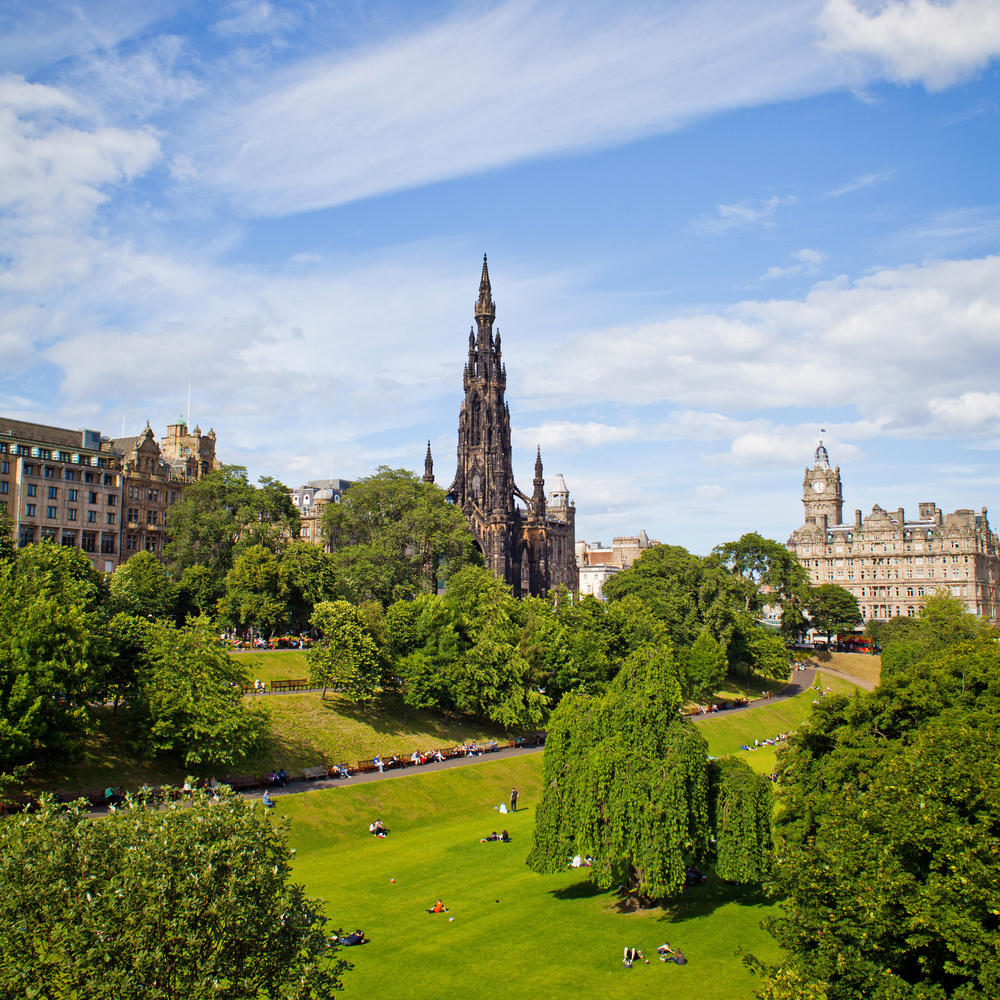 Great architecture contributes to an overall quality of life by considering the total living environment - the spaces between the buildings - exemplified beautifully in Scotland by Edinburgh's Princes Street Gardens.
