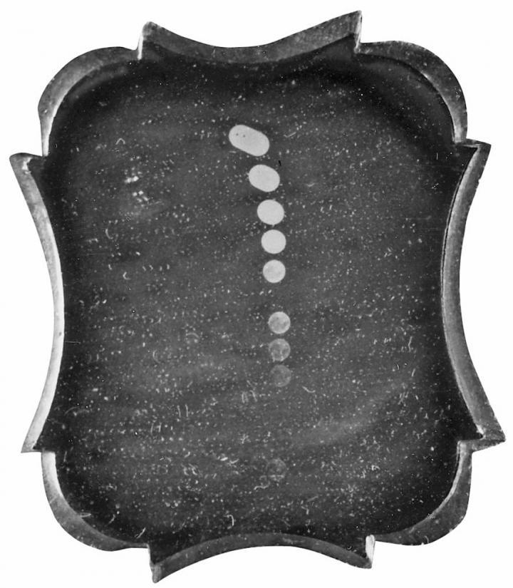 Samuel D. Humphrey's 1849 Daguerrotype image of the moon. Photo courtesy The Old Farmer's Almanac, www.almanac.com