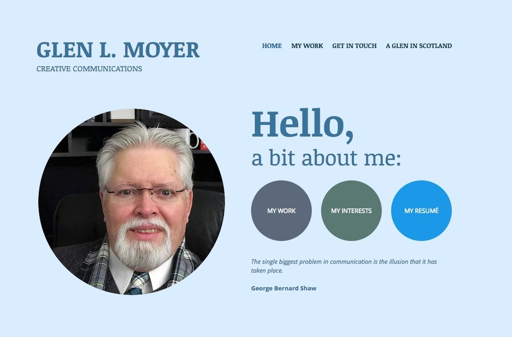 To learn more about me and the creative services I can provide please visit my website, www.glenlmoyer.com