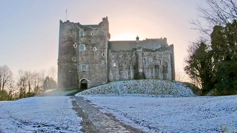 "Doune Castle has quite a history on film having had a starring role in Monty Python's ""Holy Grail"" and now known to millions of fans of the TV show ""Outlander."" Photo by the author"
