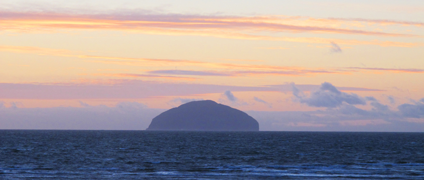 Sunset at Ailsa Craig