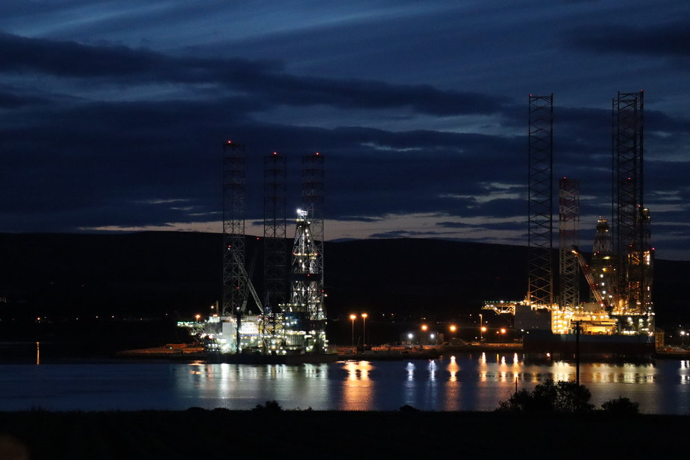 Invergordon at night