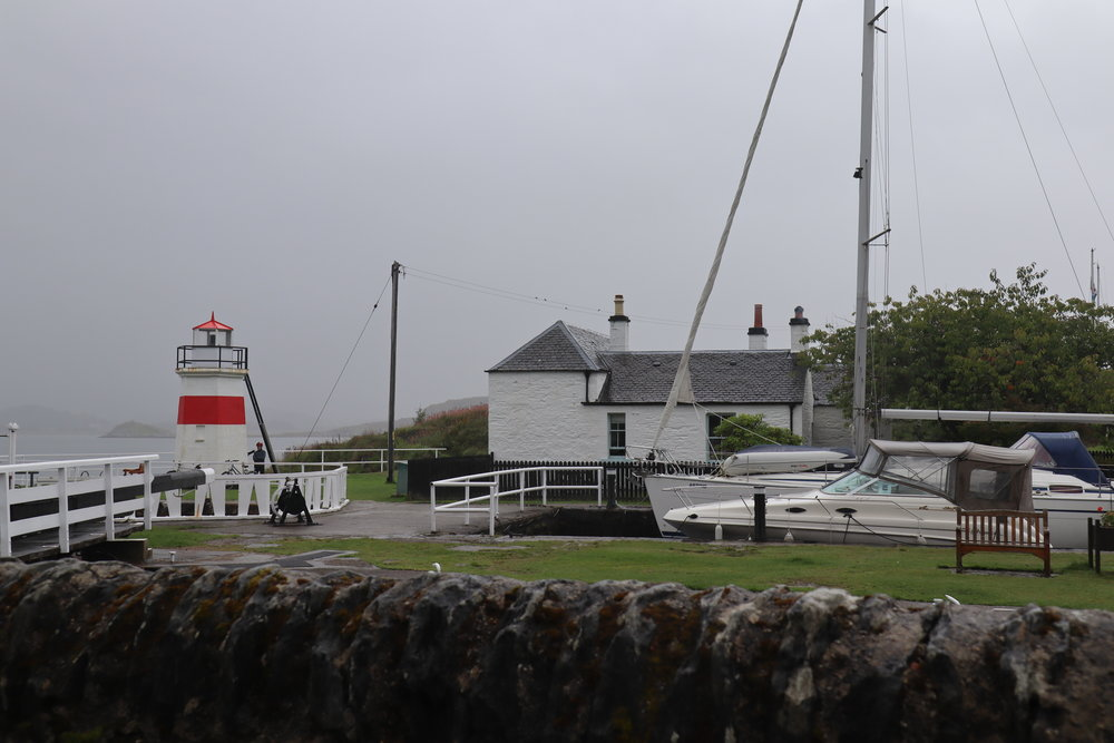 Lighthouse at Crinan Canal Locks