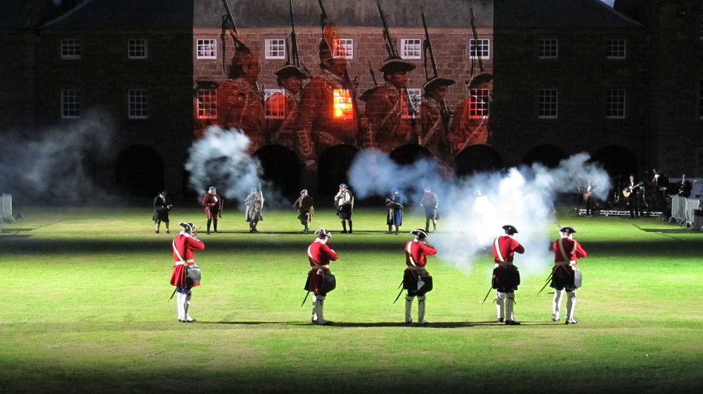 Culloden reenactment at Highland Military Tattoo