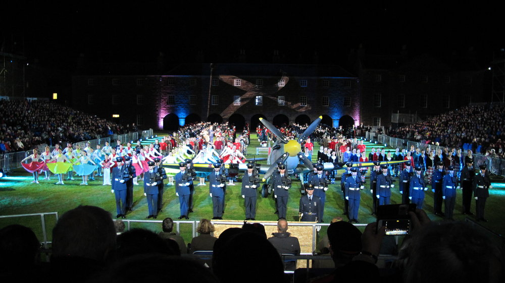 Massed performers - Highland Military Tattoo
