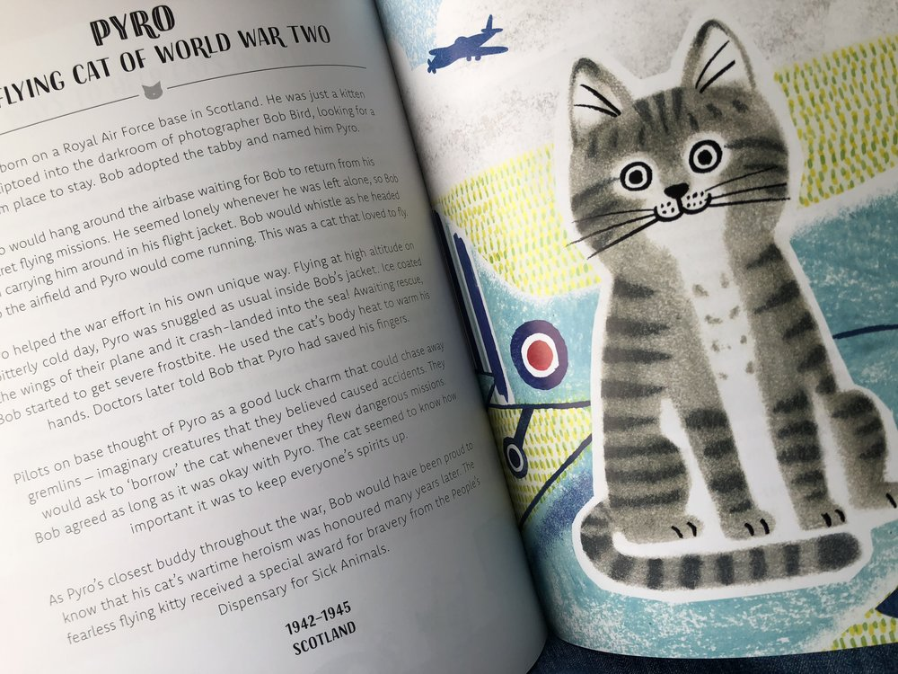 "One of 30 kitties profiled in ""Rebel Cats"" is Pyro, from Scotland, who flew on numerous photo reconnaissance missions in World War II"
