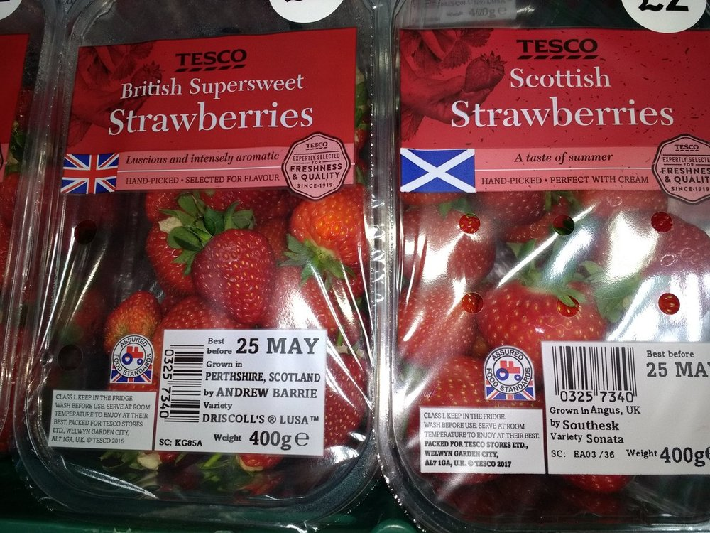 """Instances like this where retailers have taken produce clearly grown in Scotland and marked them """"British"""" have sparked outcry on social media and gave birth to the #KeepScotlandtheBrand campaign."""