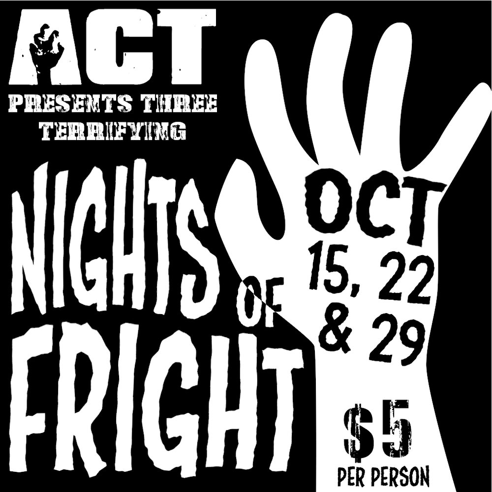 abilene community theatre nights of fright october 2016