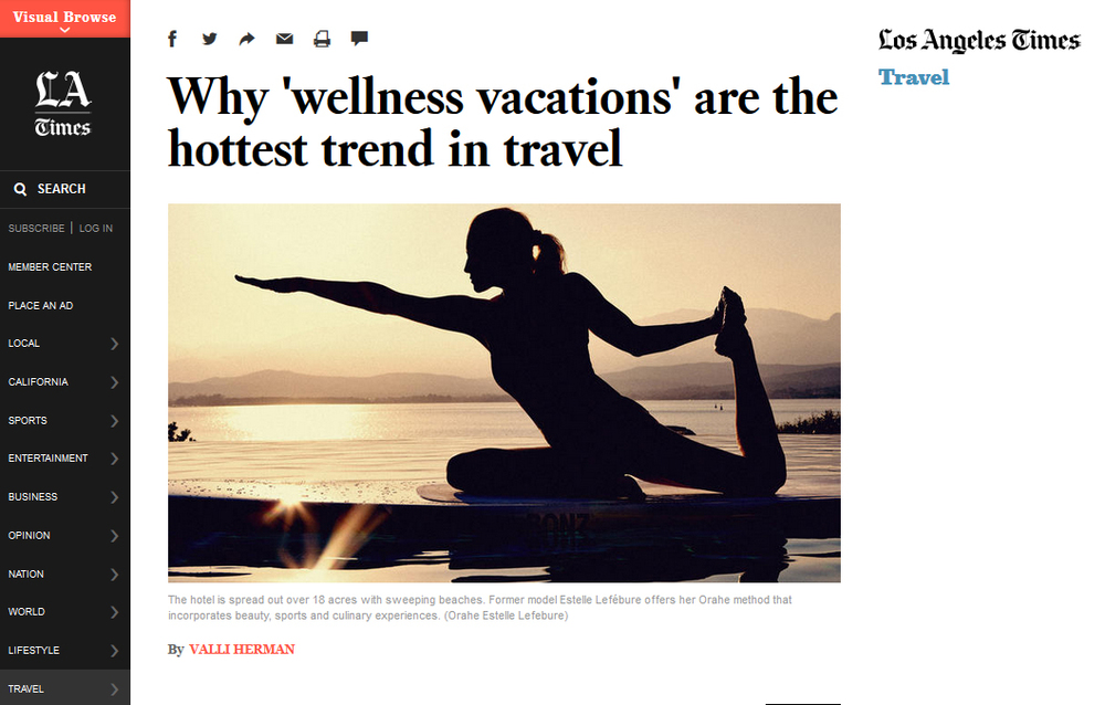 LOS ANGELES TIMES / TRAVEL  Section