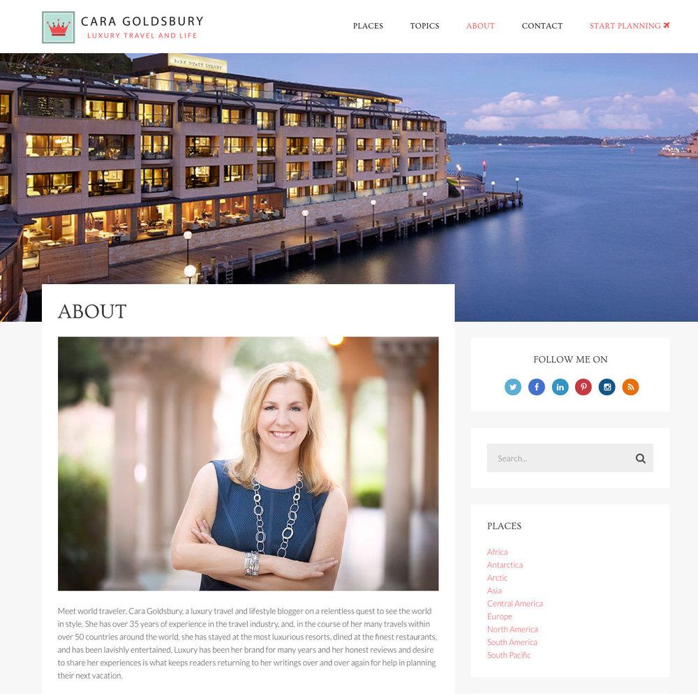 CARA GOLDSBURY  | Luxury Travel and Life |  caragoldsbury.com
