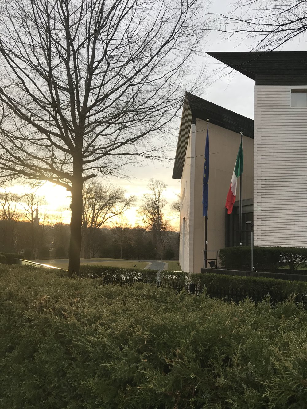 Sunrise at the Embassy of Italy.