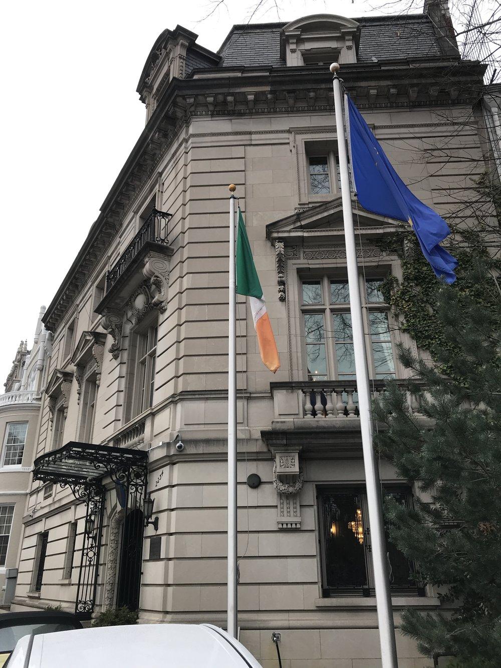 The Embassy of Ireland.