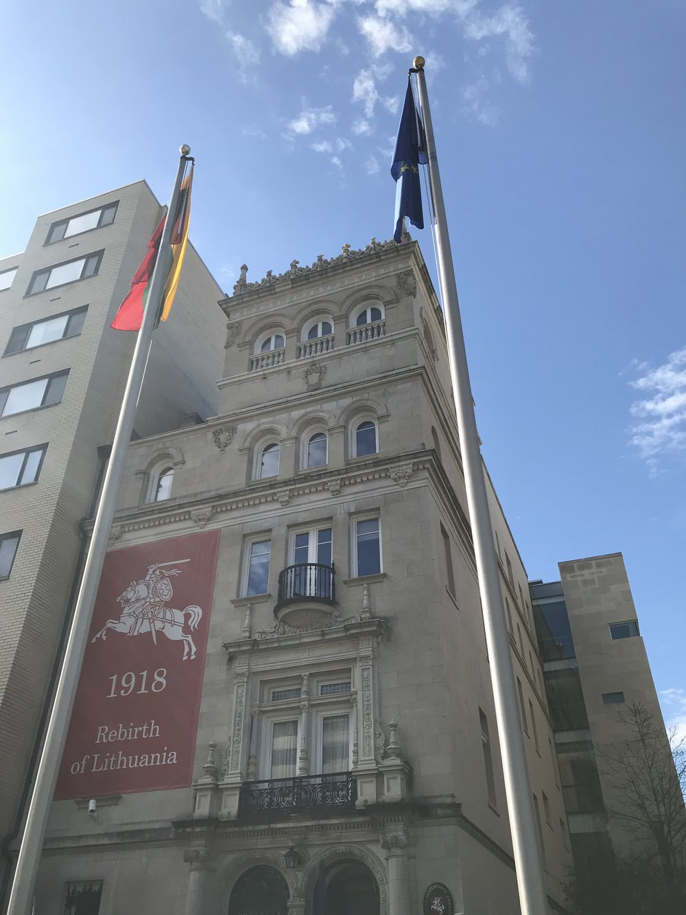 The Embassy of Lithuania.  Happy 100th birthday!