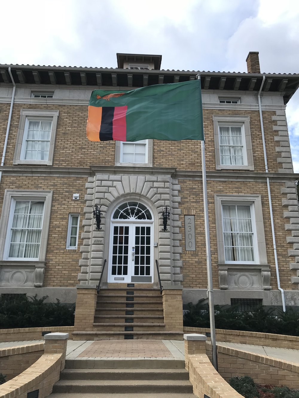 The Residence of the Ambassador of Zambia.