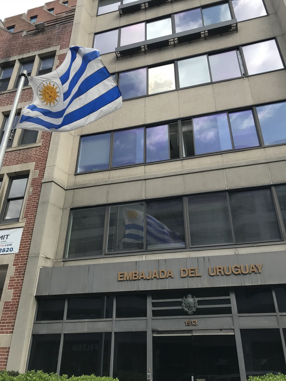 The Embassy of Uruguay.