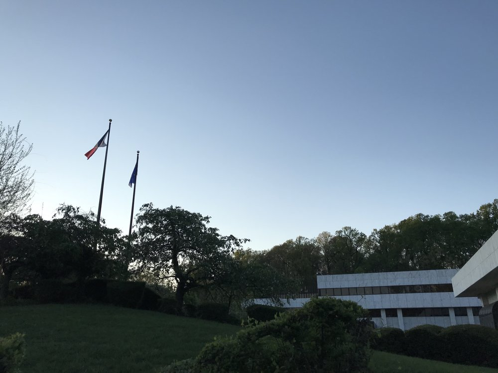 Sunset at the Embassy of France.