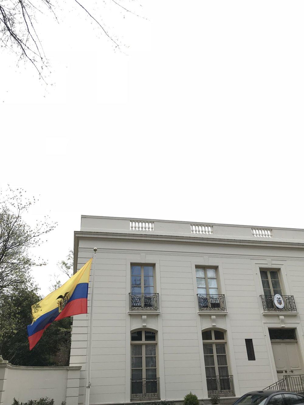 Residence of the Ecuadorian Ambassador.