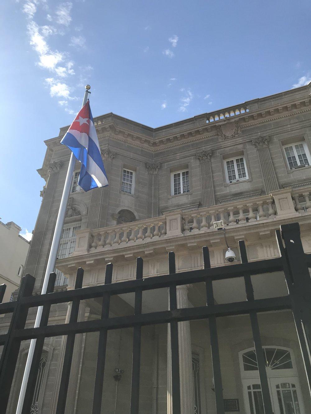 The Embassy of Cuba.