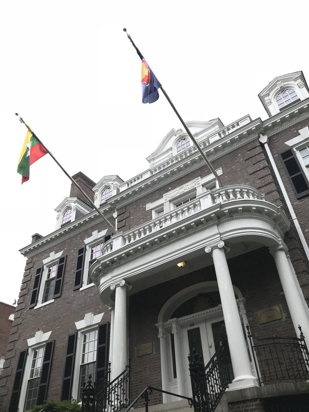 The Embassy of Myanmar.